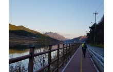 Cycling in South Korea Autumn Colours