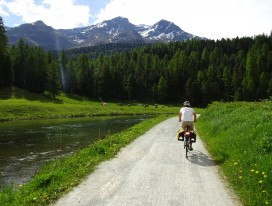 Scenic Cycling from St. Moritz to Innsbruck