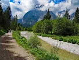 Walking around Mount Zugspitze